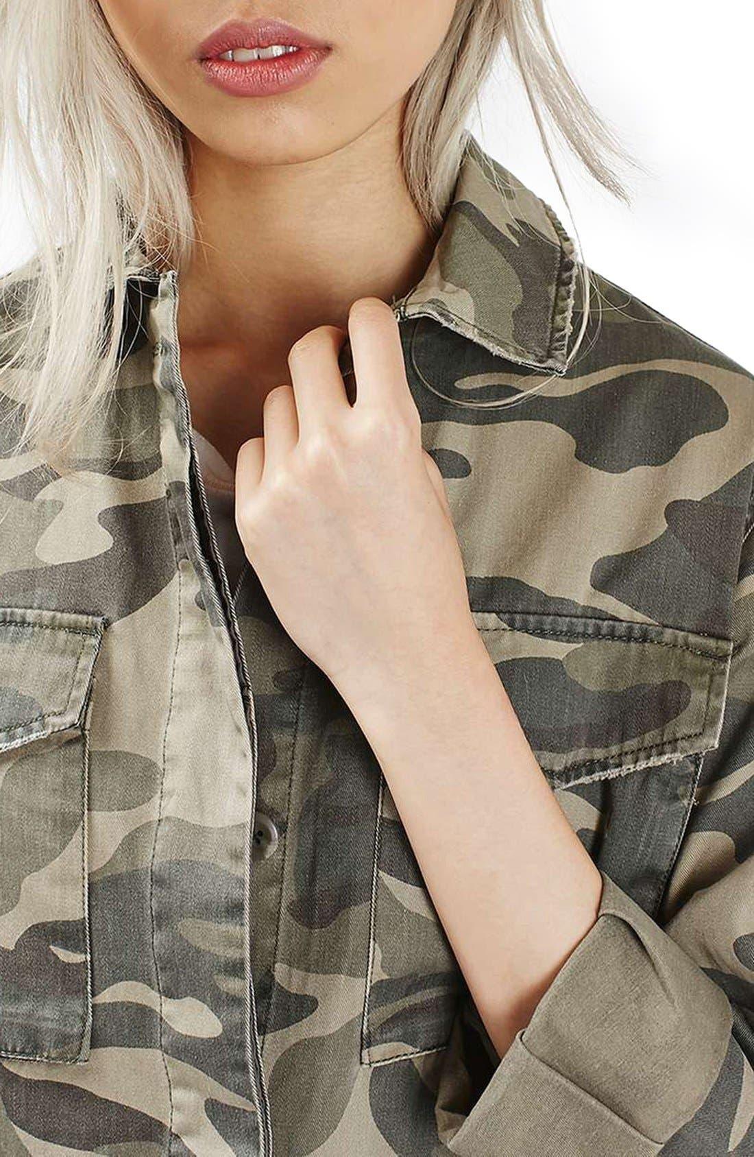 Alternate Image 5  - Topshop 'Sarge' Camo Shirt Jacket
