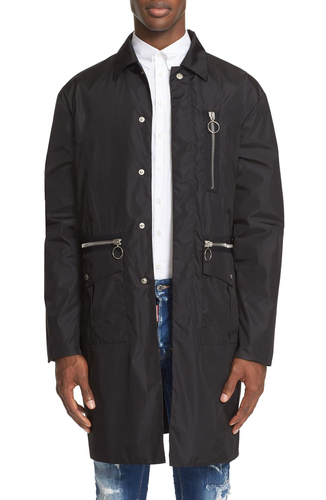 DSQUARED2 Military Nylon Trench Coat