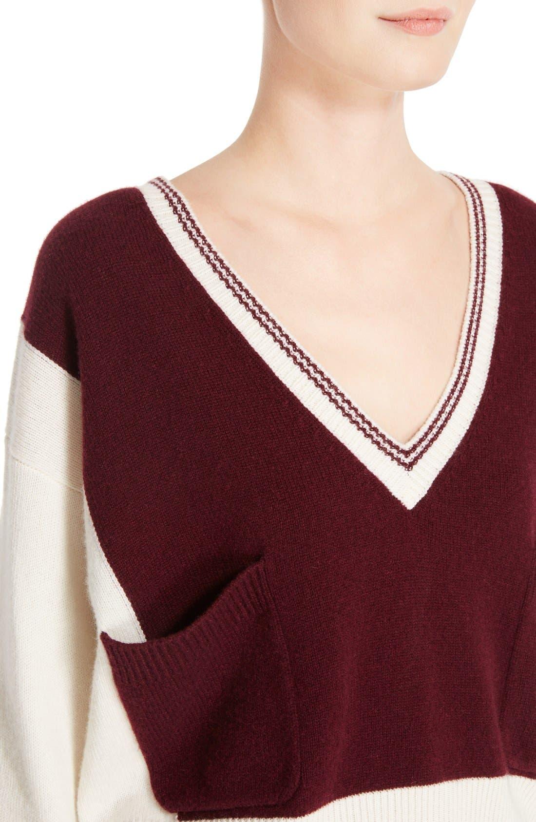 Alternate Image 5  - Chloé Bicolor Sweater