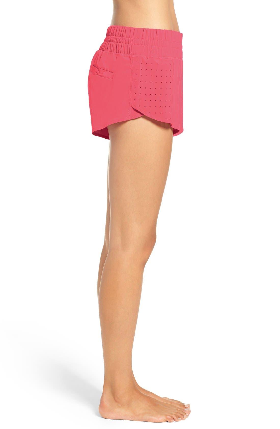 Alternate Image 3  - Zella 'Daylight' Perforated Shorts