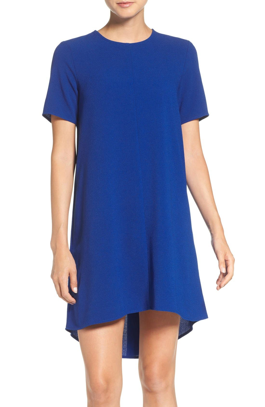 Main Image - Charles Henry Crepe Trapeze Dress