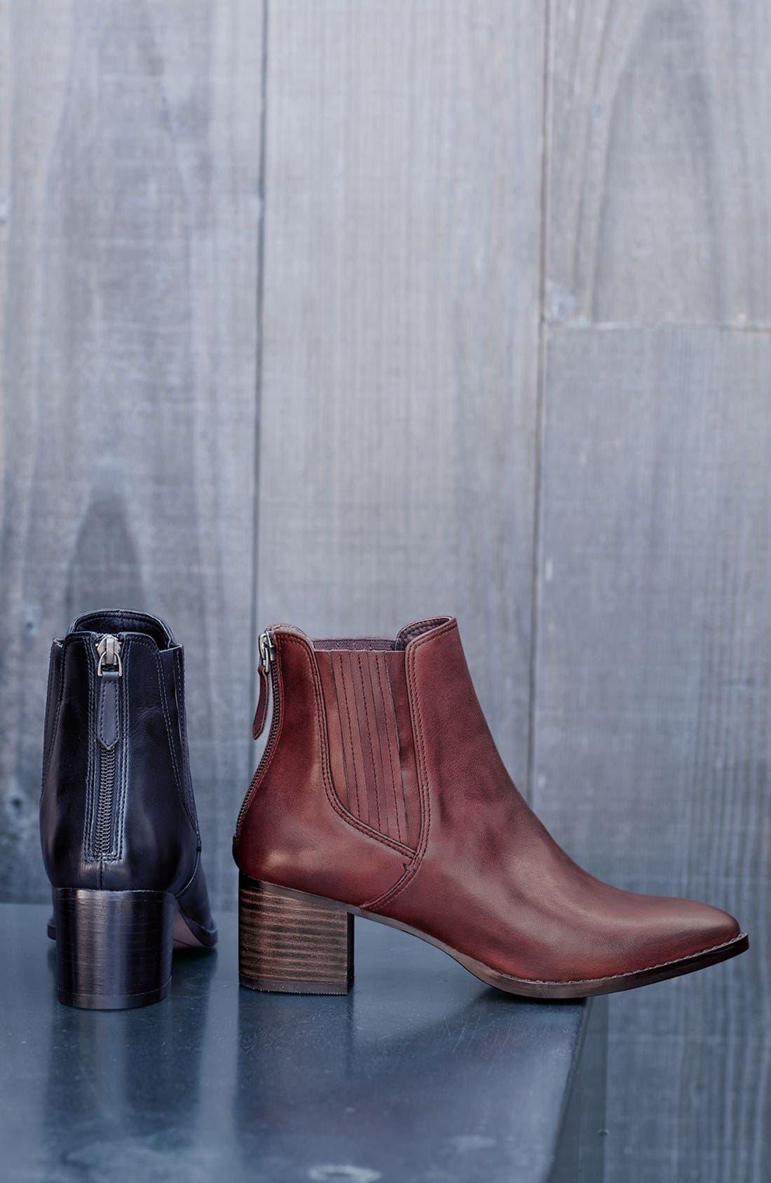 Alternate Image 5  - Halogen® 'Bailey' Pointy Toe Block Heel Bootie (Women)