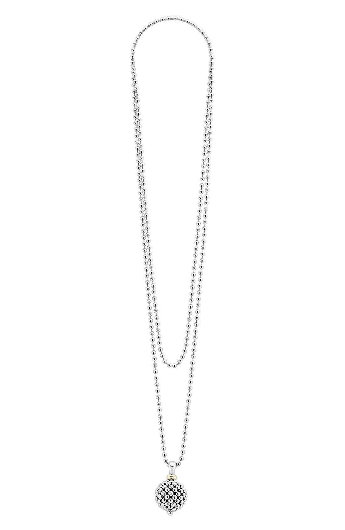 Alternate Image 2  - LAGOS Sterling Silver Ball Long Pendant Necklace
