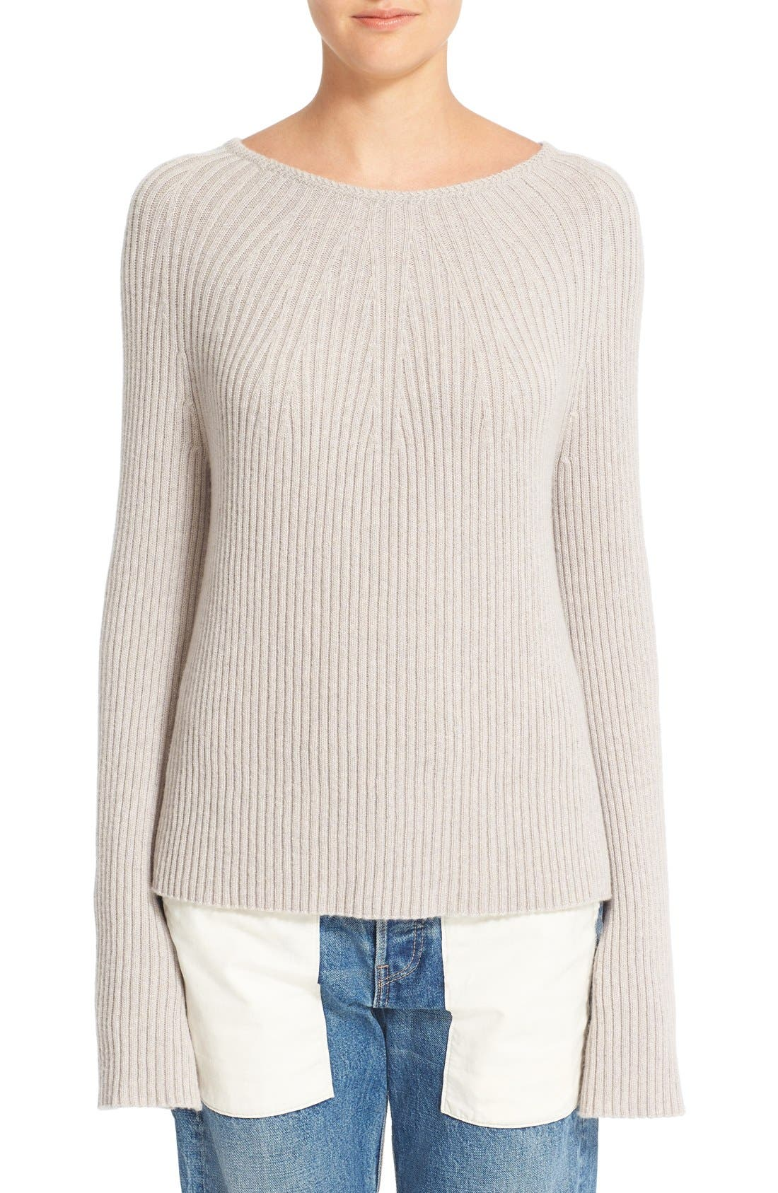 Helmut Lang Wool & Cashmere Split Sleeve Sweater