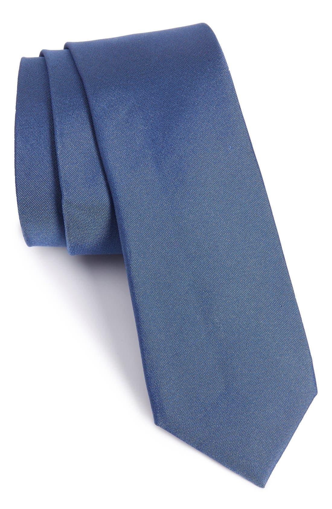 CALIBRATE Veloutine Woven Silk Skinny Tie