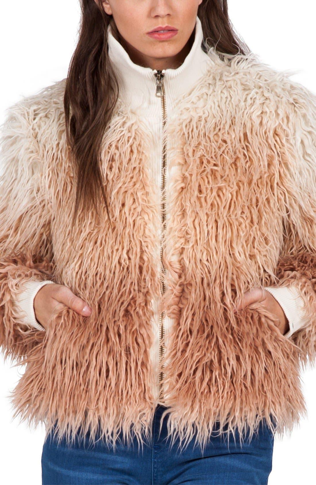 Alternate Image 3  - Volcom 'Furrankie' Faux Fur Jacket