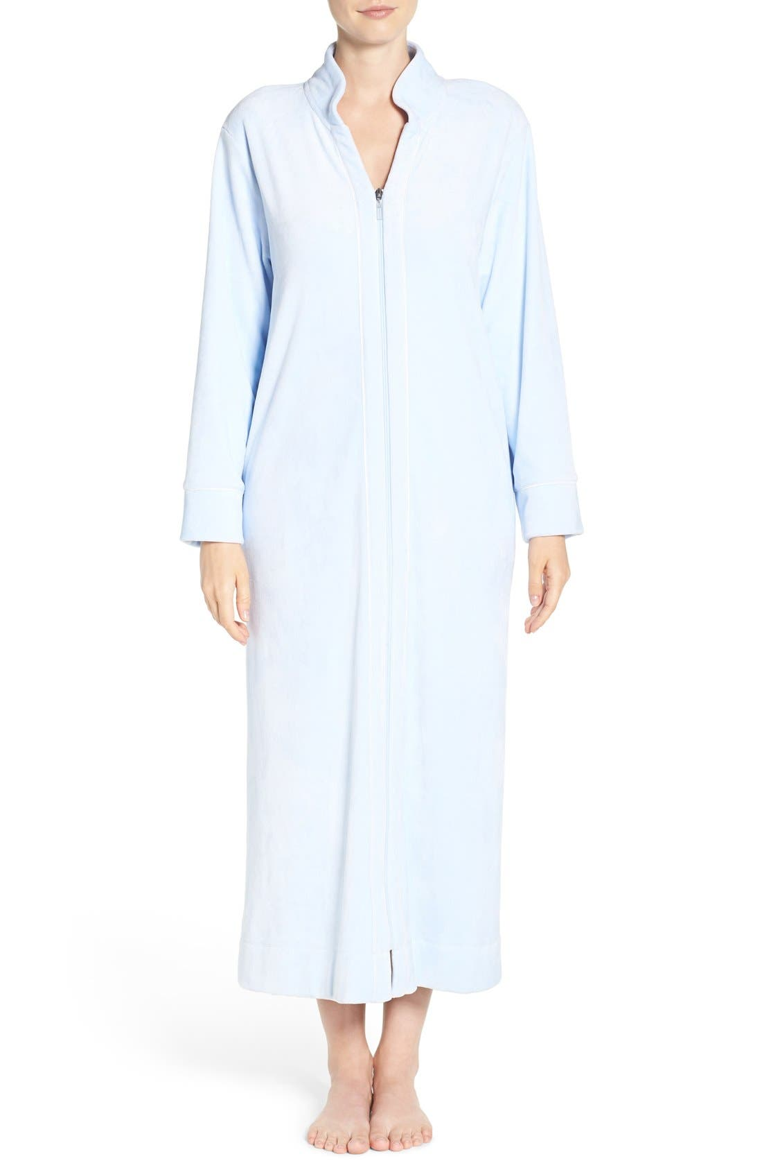 Alternate Image 1 Selected - Carole Hochman Front Zip Velour Robe