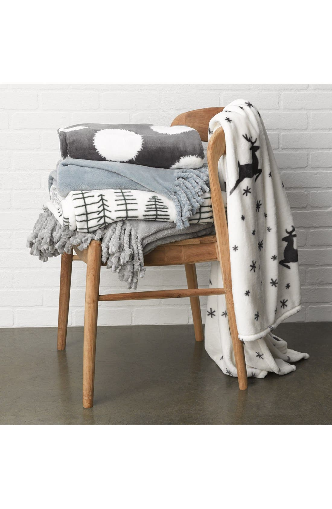 Alternate Image 4  - Nordstrom at Home Print Plush Throw