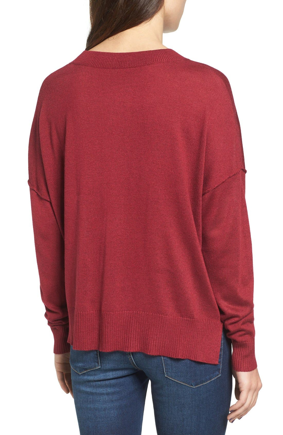 Alternate Image 2  - BP. Drop Shoulder Pullover Sweater