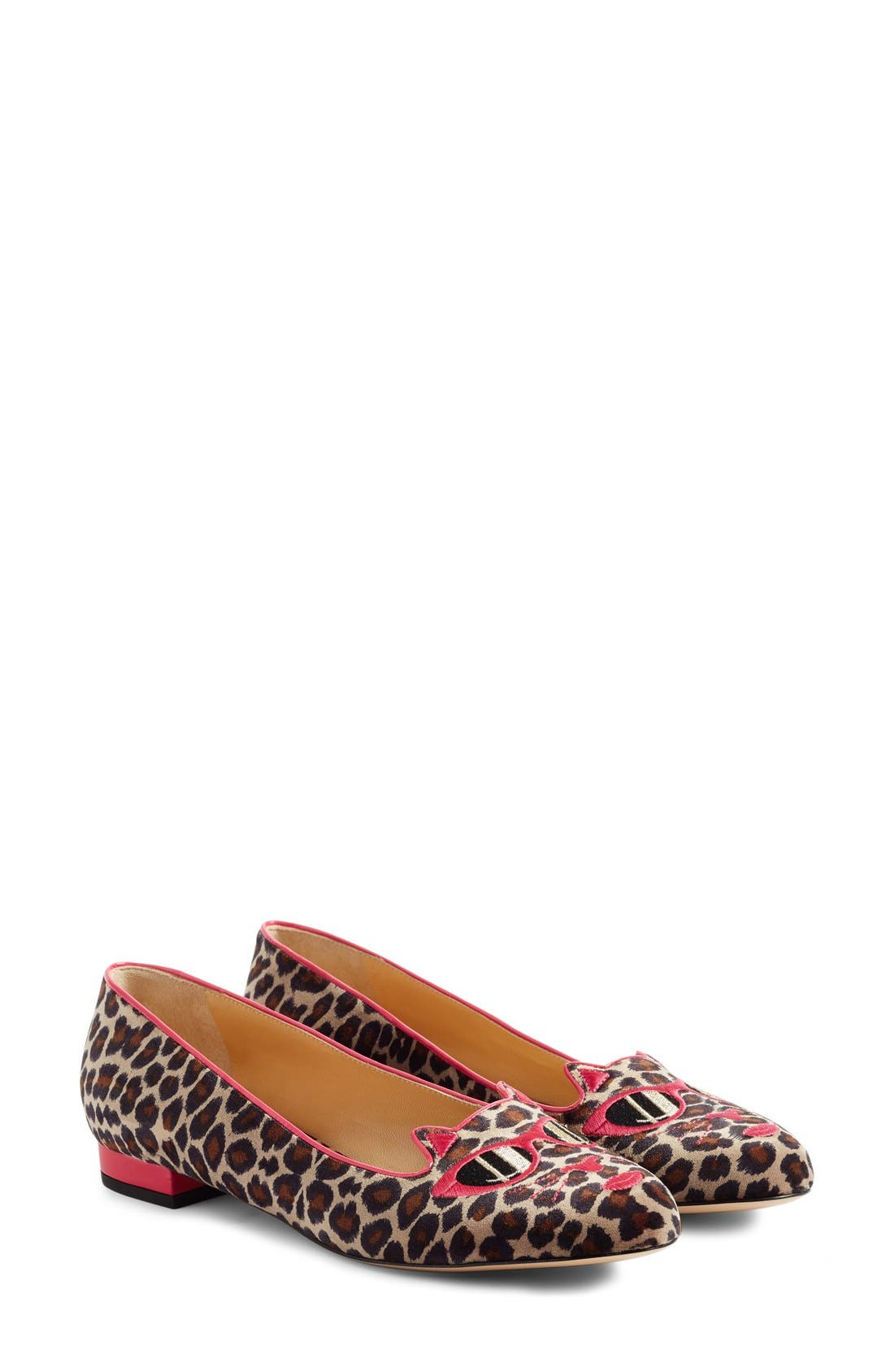 Alternate Image 2  - Charlotte Olympia x Barbie® Pretty In Pink Kitty Flat (Women)