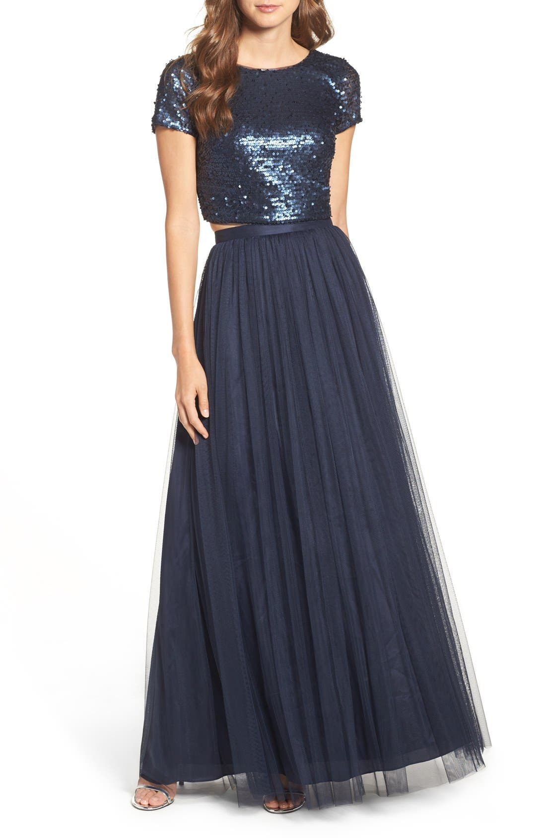 Main Image - Adrianna Papell Embellished Two Piece Gown