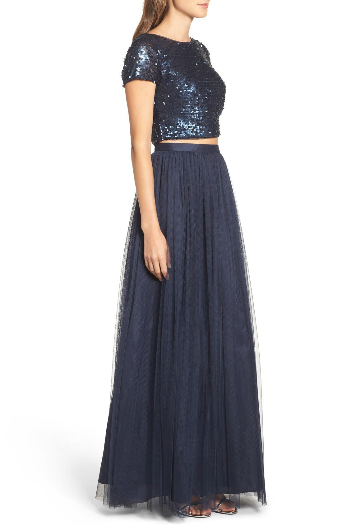 Alternate Image 3  - Adrianna Papell Embellished Two Piece Gown
