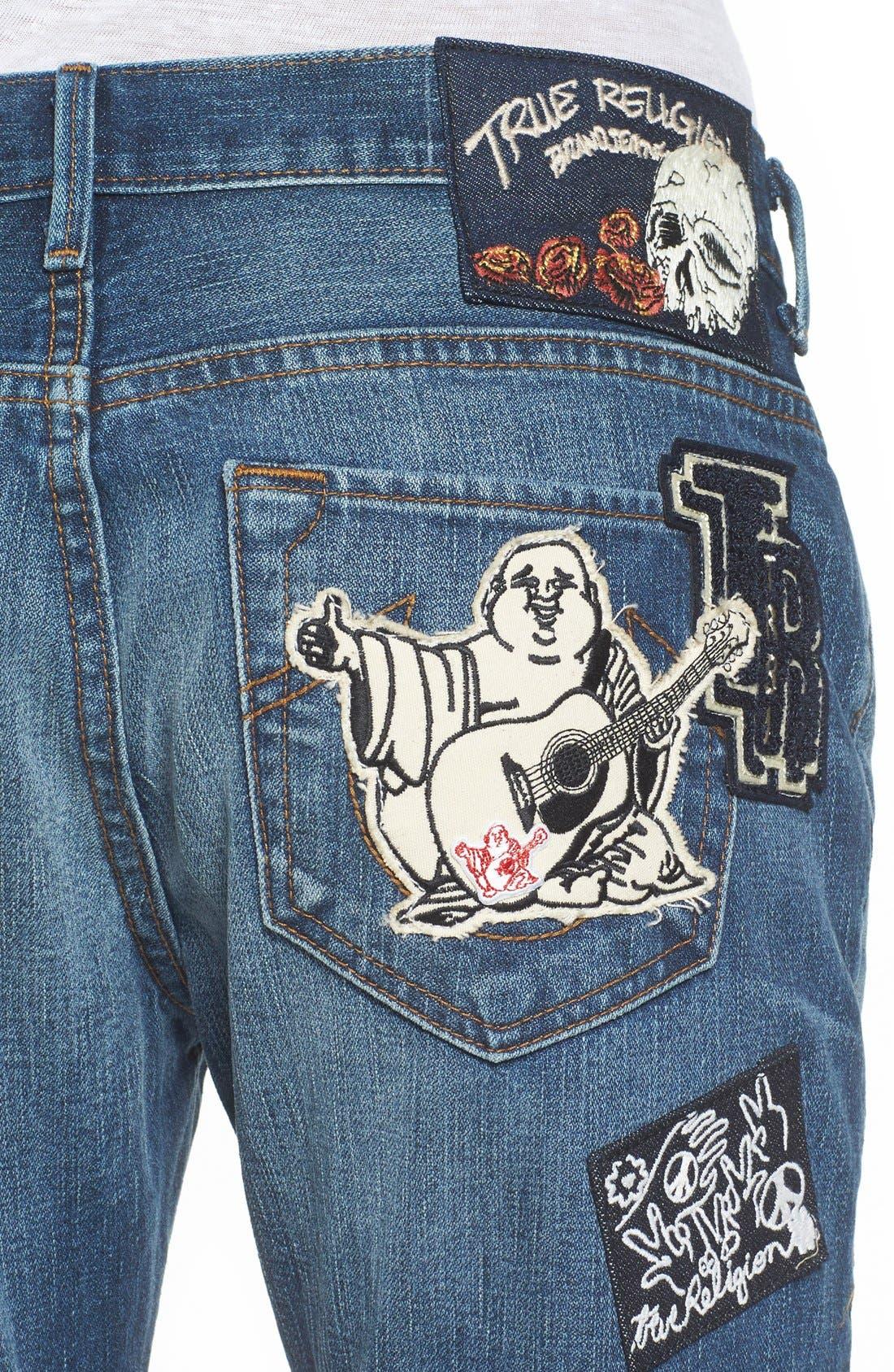 Alternate Image 4  - True Religion Brand Jeans Audrey Slim Boyfriend Jeans (Coronet Blue)