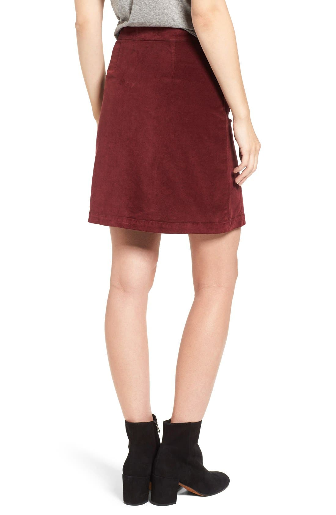Alternate Image 2  - Madewell Zip Front A-Line Miniskirt