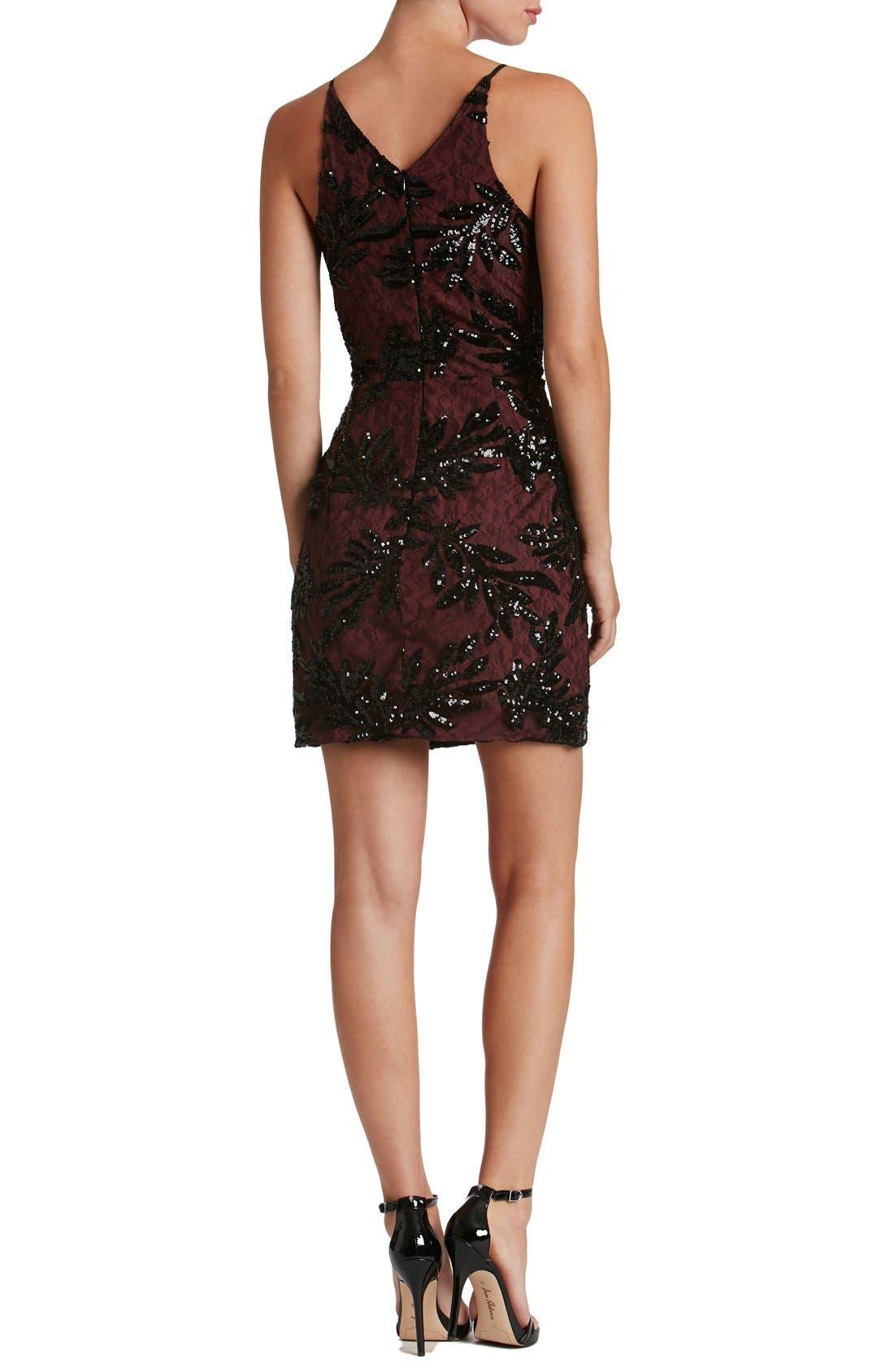 Alternate Image 2  - Dress the Population Jordyn Sequin Sheath Dress