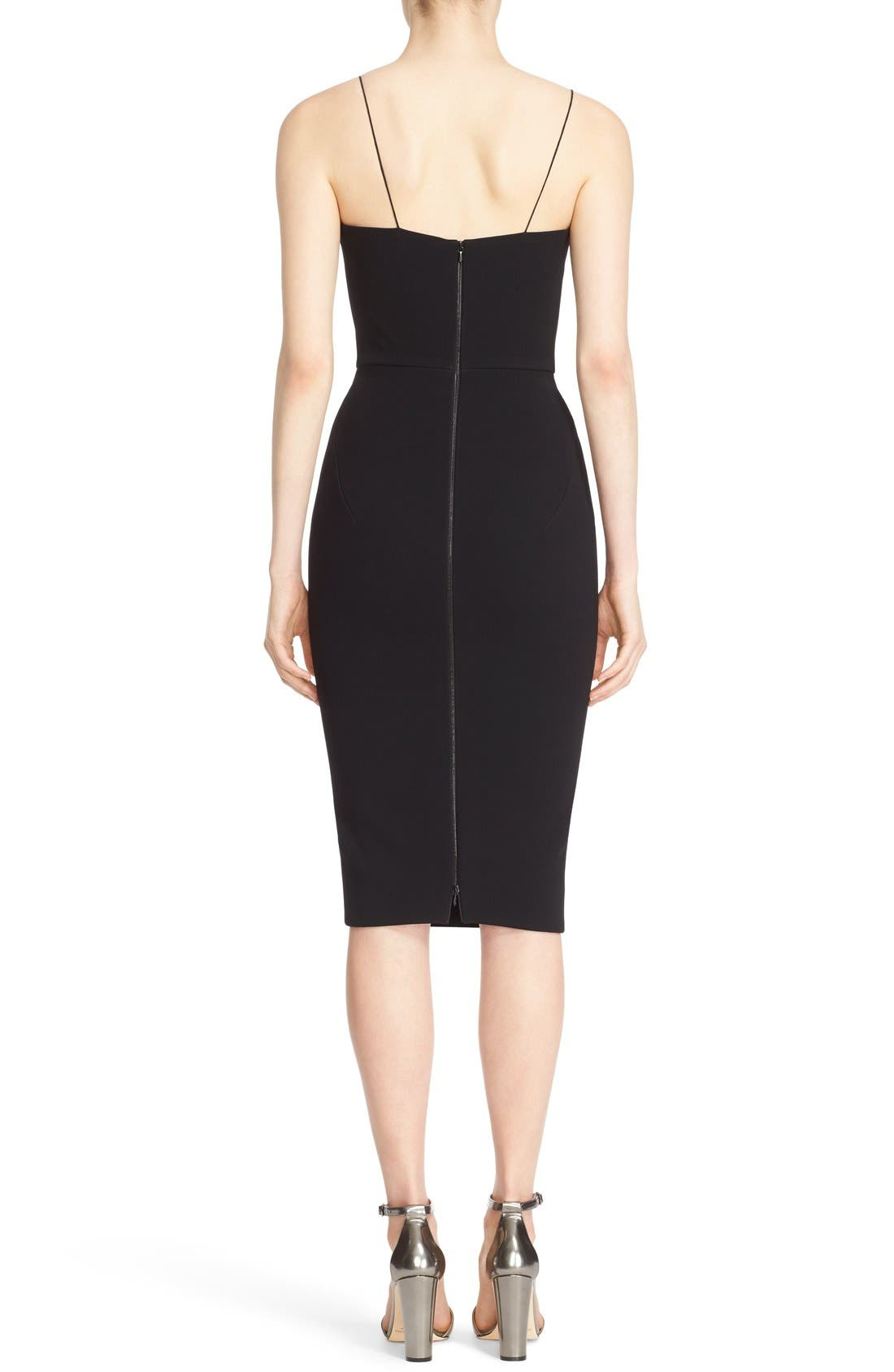 Alternate Image 2  - Victoria Beckham Sheer Inset Crepe Tulle Dress