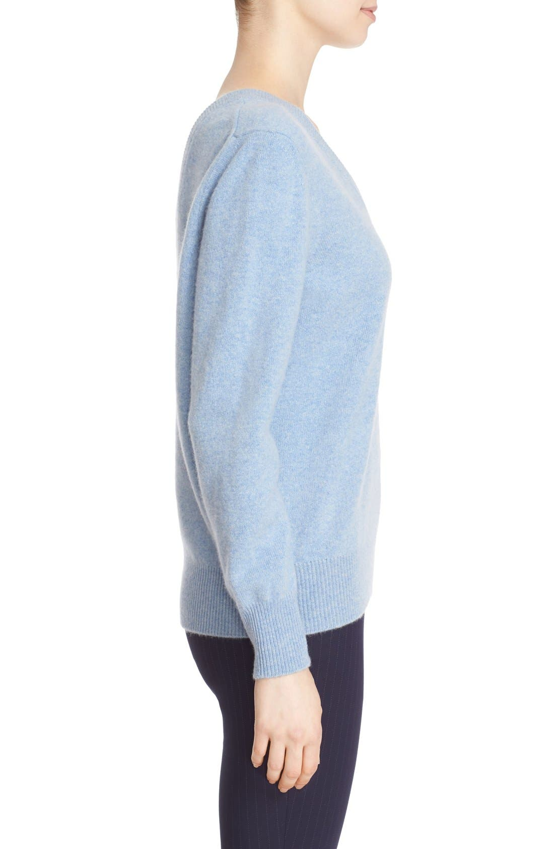 Alternate Image 4  - Victoria Beckham Double V-Neck Felted Lambswool Sweater