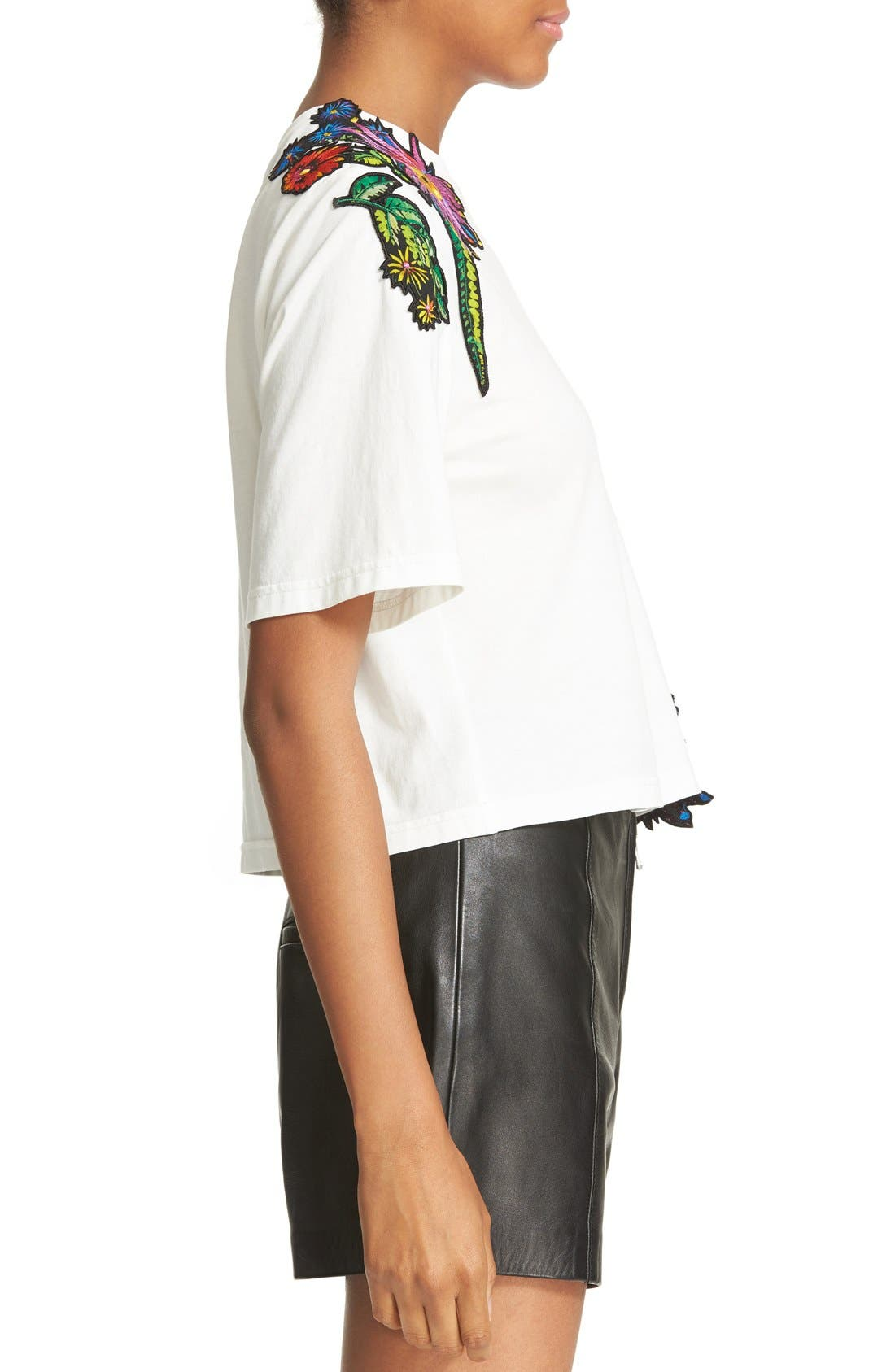 Alternate Image 3  - 3.1 Phillip Lim Embroidered Floral Patch Tee