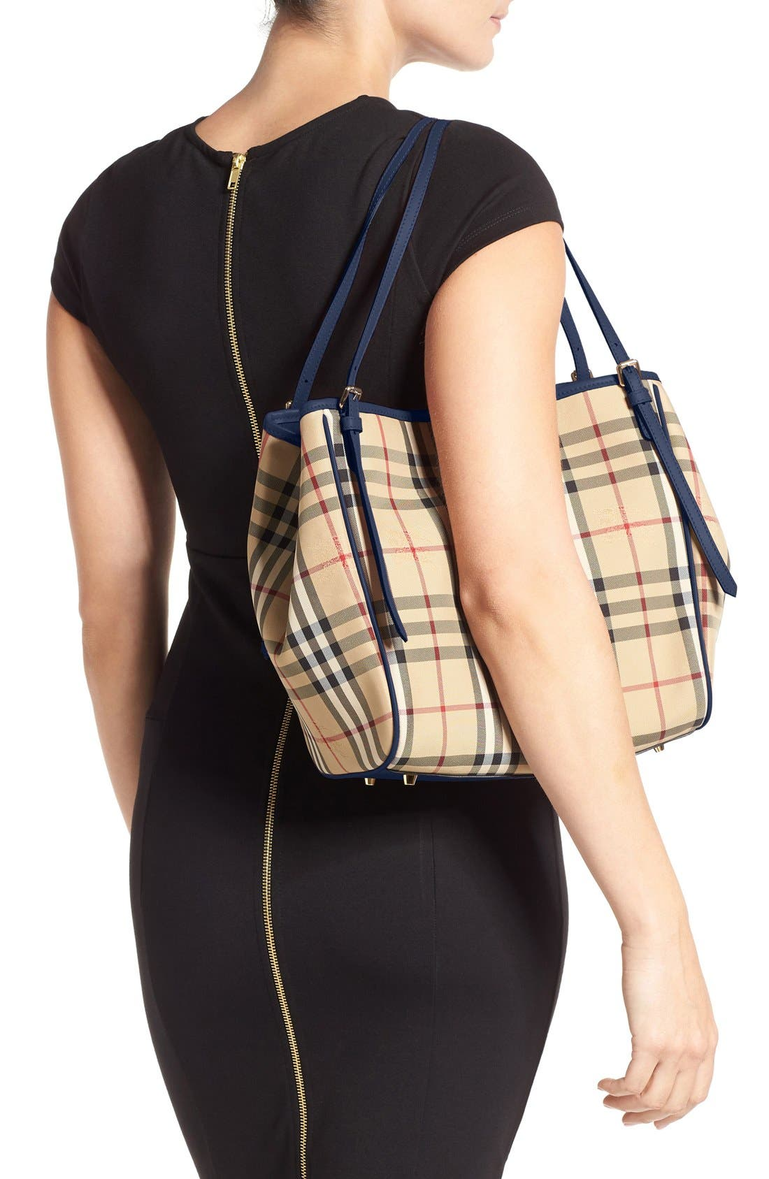 Alternate Image 2  - Burberry Small Canter Horseferry Check Tote