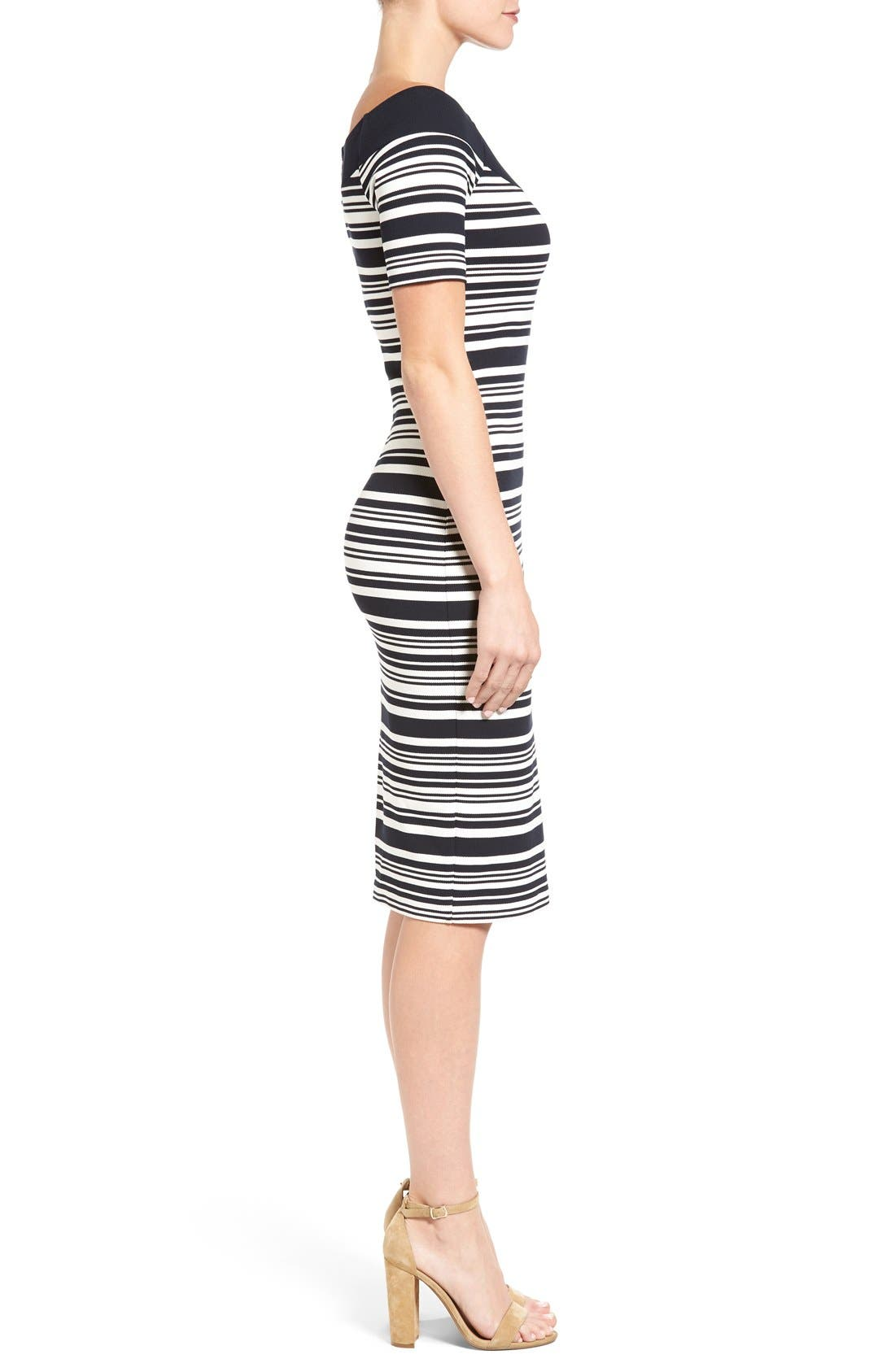 Alternate Image 3  - MICHAEL Michael Kors Stripe Body-Con Dress