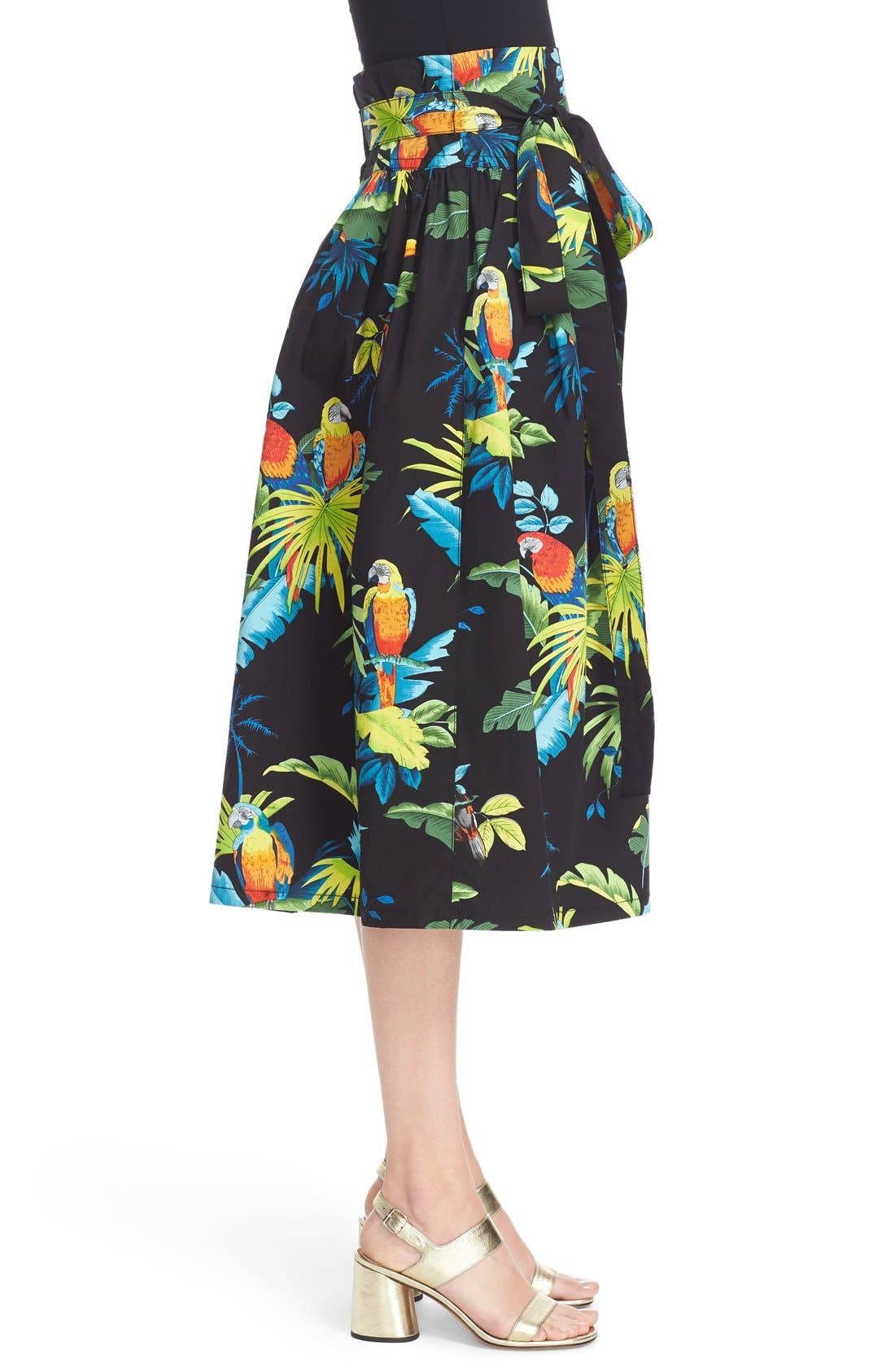 Alternate Image 4  - MARC JACOBS Parrot Print Cotton Poplin Full Skirt