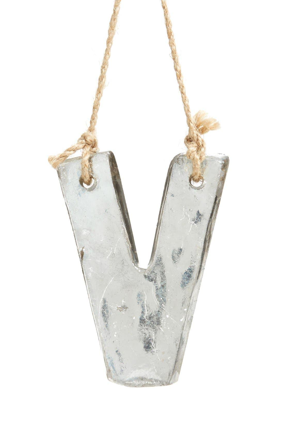 Main Image - Nordstrom at Home Handblown Glass Alphabet Ornament