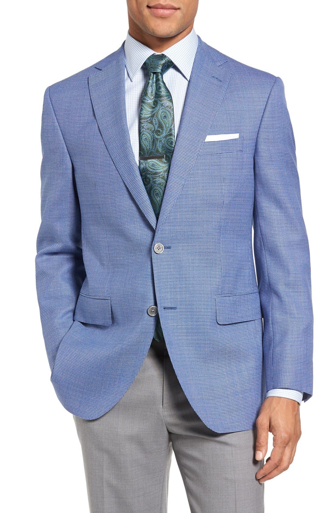 DAVID DONAHUE Connor Classic Fit Houndstooth Wool Sport