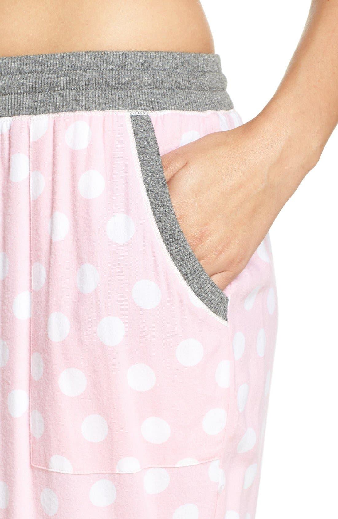 Alternate Image 4  - kensie Jogger Pajama Pants