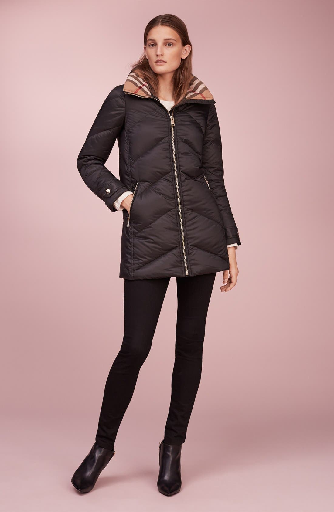 Alternate Image 8  - Burberry Eastwick Chevron Quilted Coat
