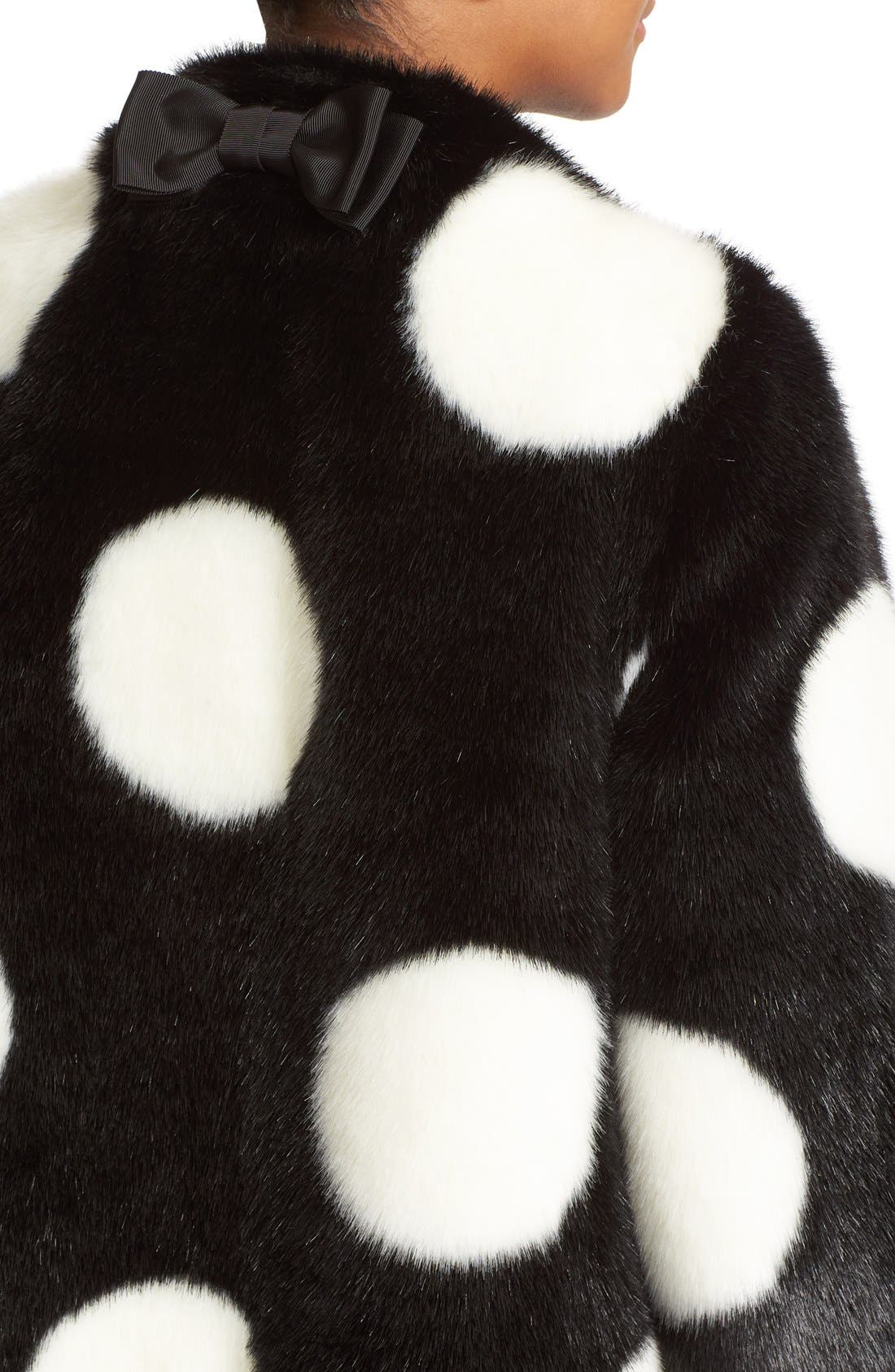Alternate Image 5  - kate spade new york polka dot faux fur coat