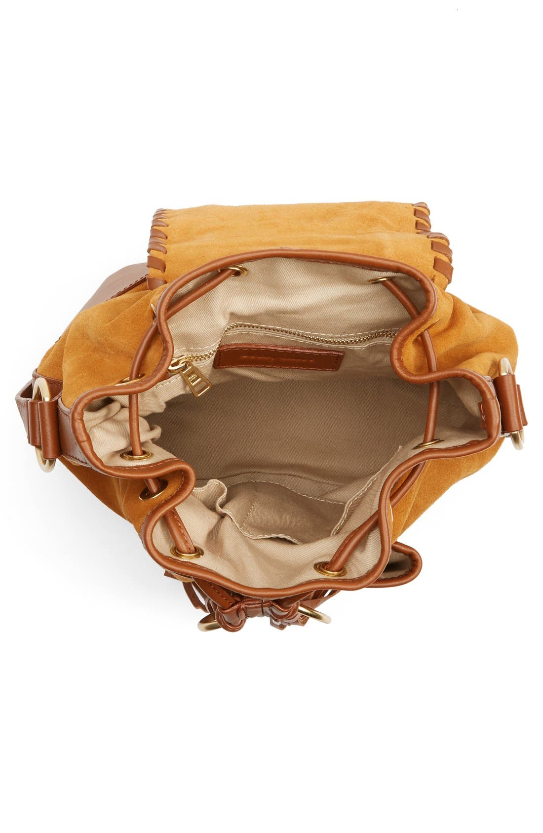 Alternate Image 4  - See by Chloé Small Polly Leather Bucket Bag