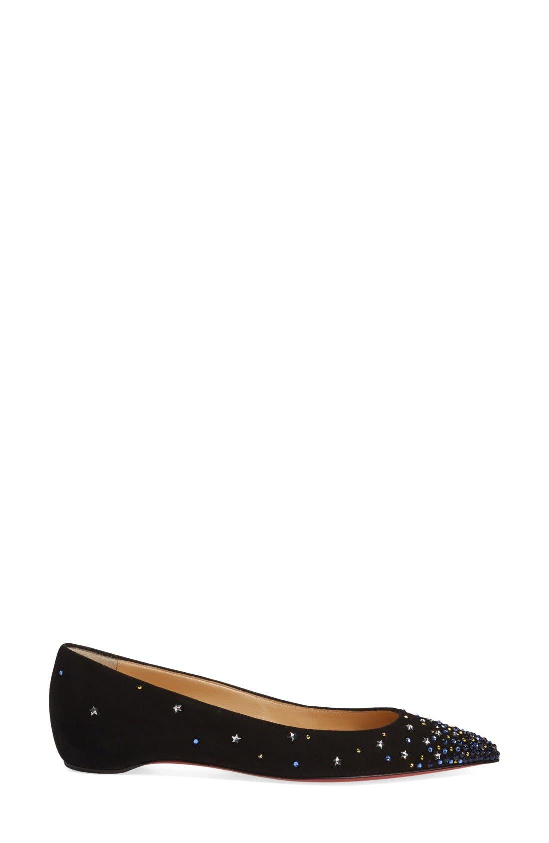 Alternate Image 4  - Christian Louboutin Gravitanita Starry Embellished Flat