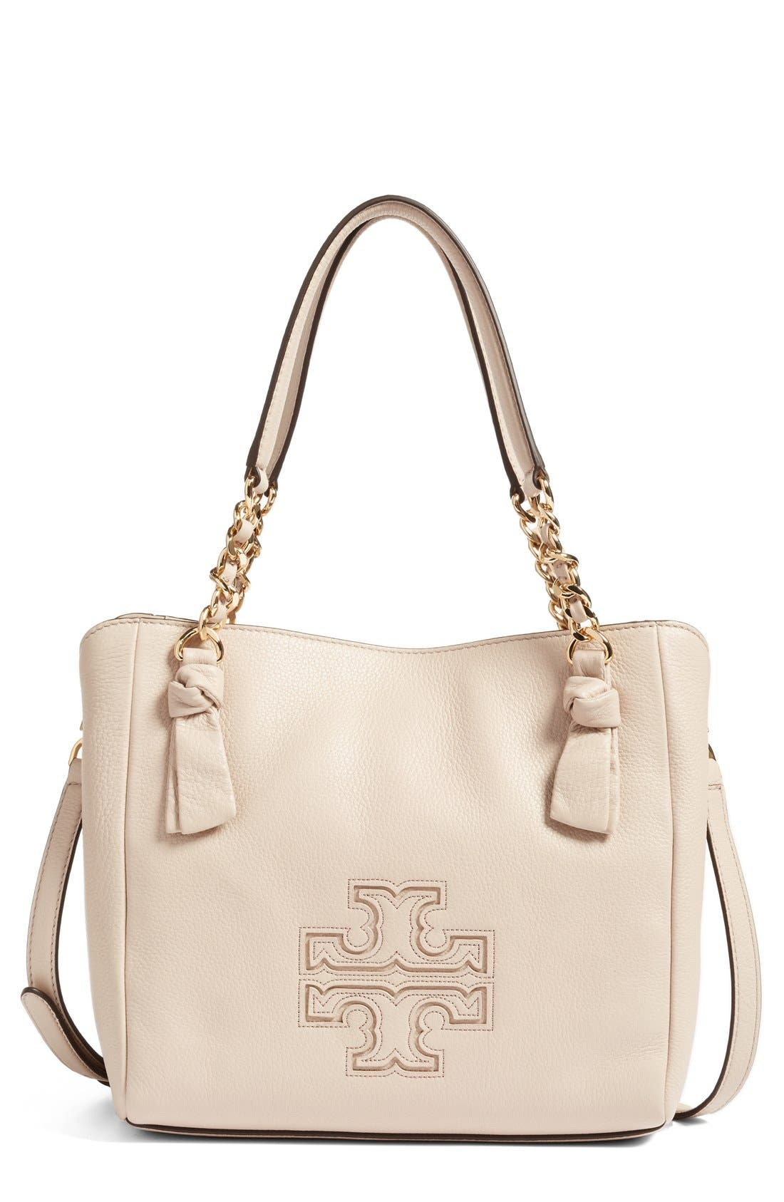 Alternate Image 1 Selected - Tory Burch Small Harper Leather Satchel