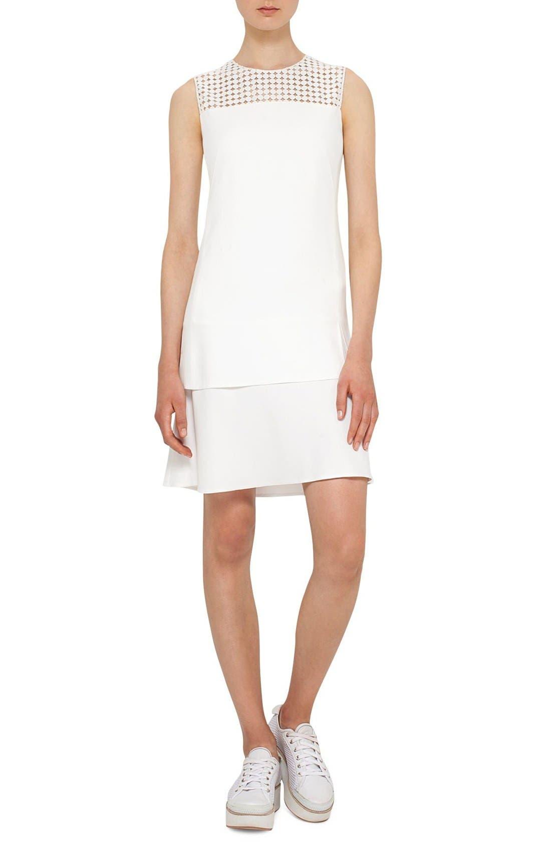 AKRIS PUNTO Cutout Dot Dress