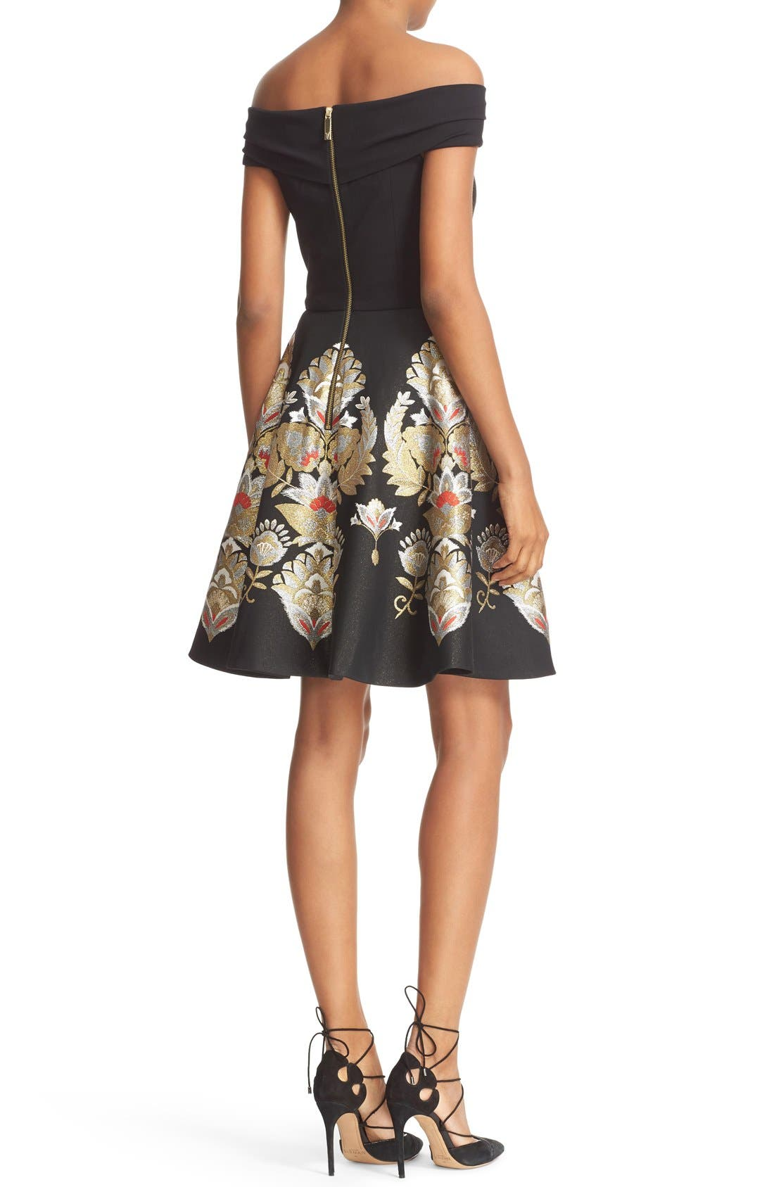 Alternate Image 2  - Ted Baker London Airlo Opulent Orient Fit & Flare Dress