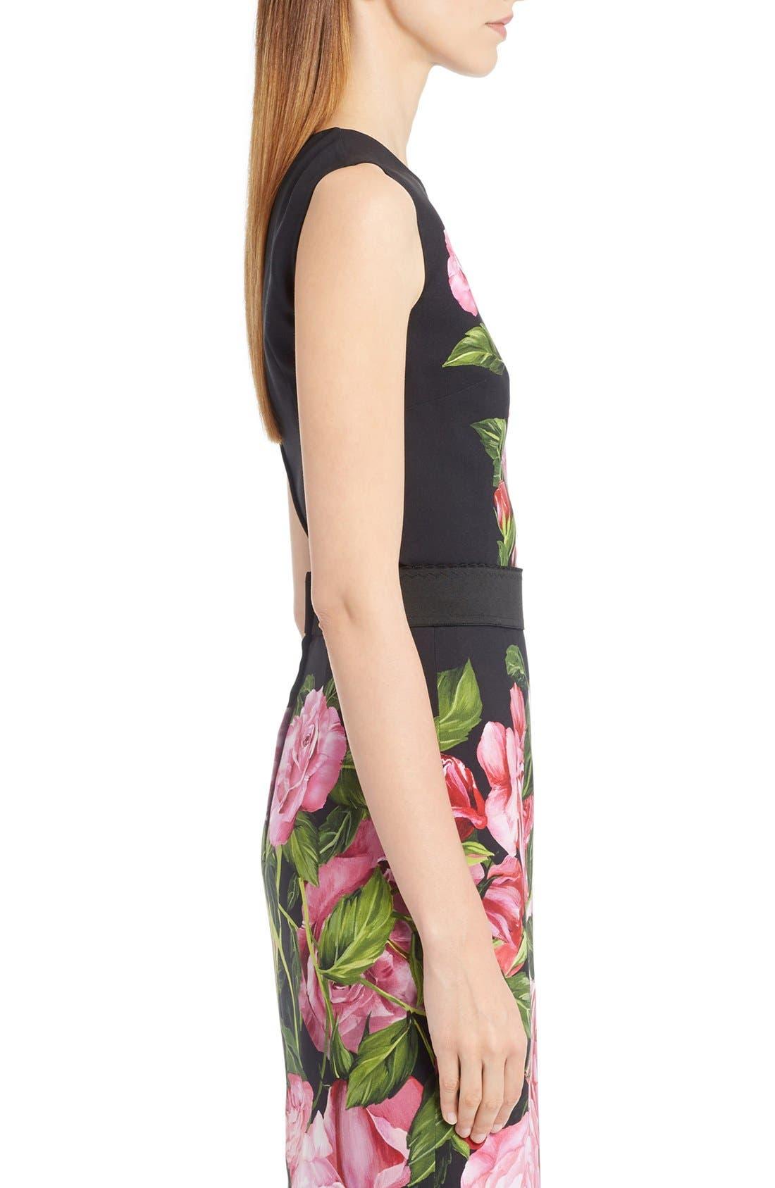 Alternate Image 4  - Dolce&Gabbana Rose Print Cady Top
