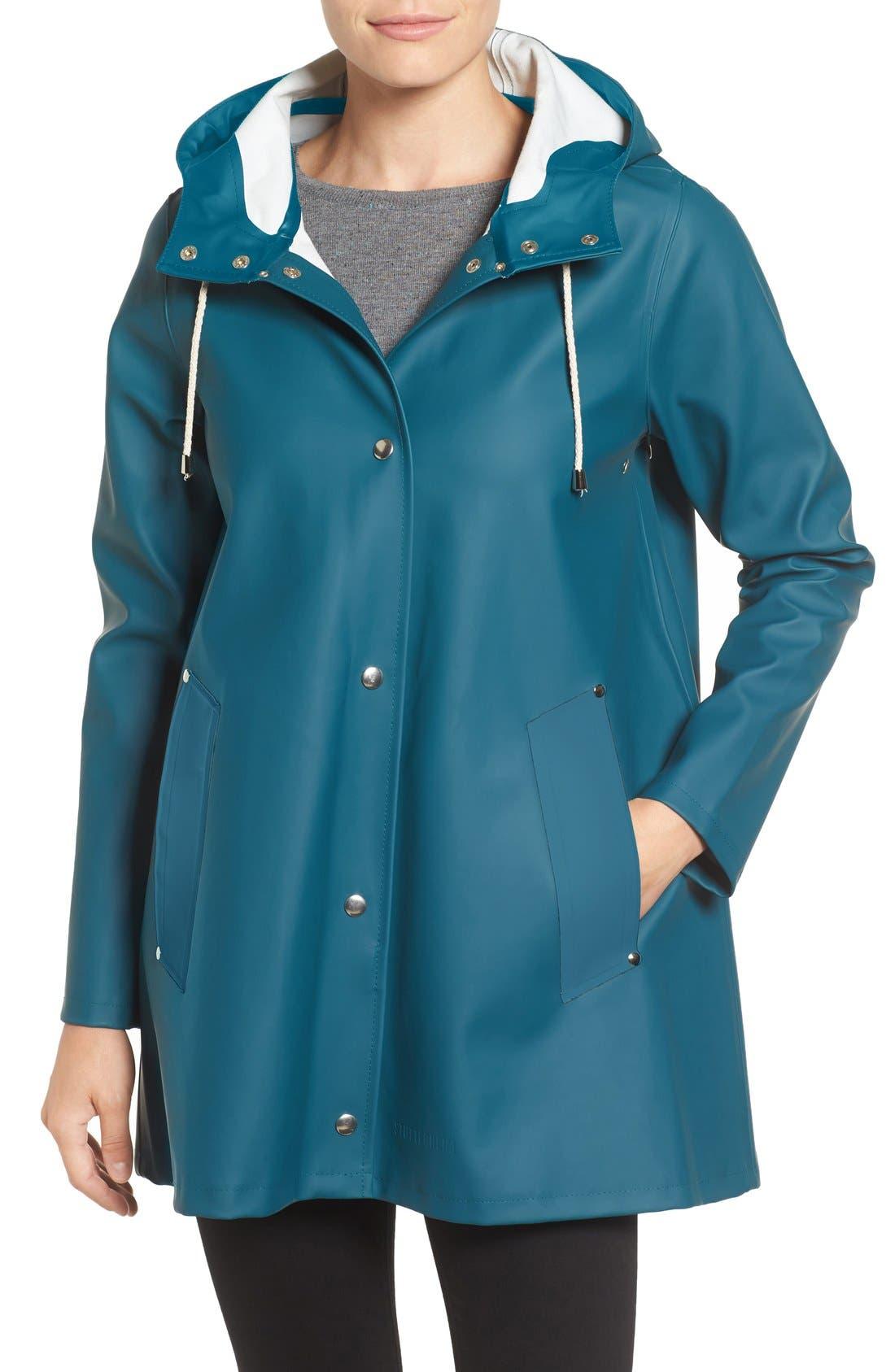 Alternate Image 1 Selected - Stutterheim Mosebacke Waterproof A-Line Raincoat