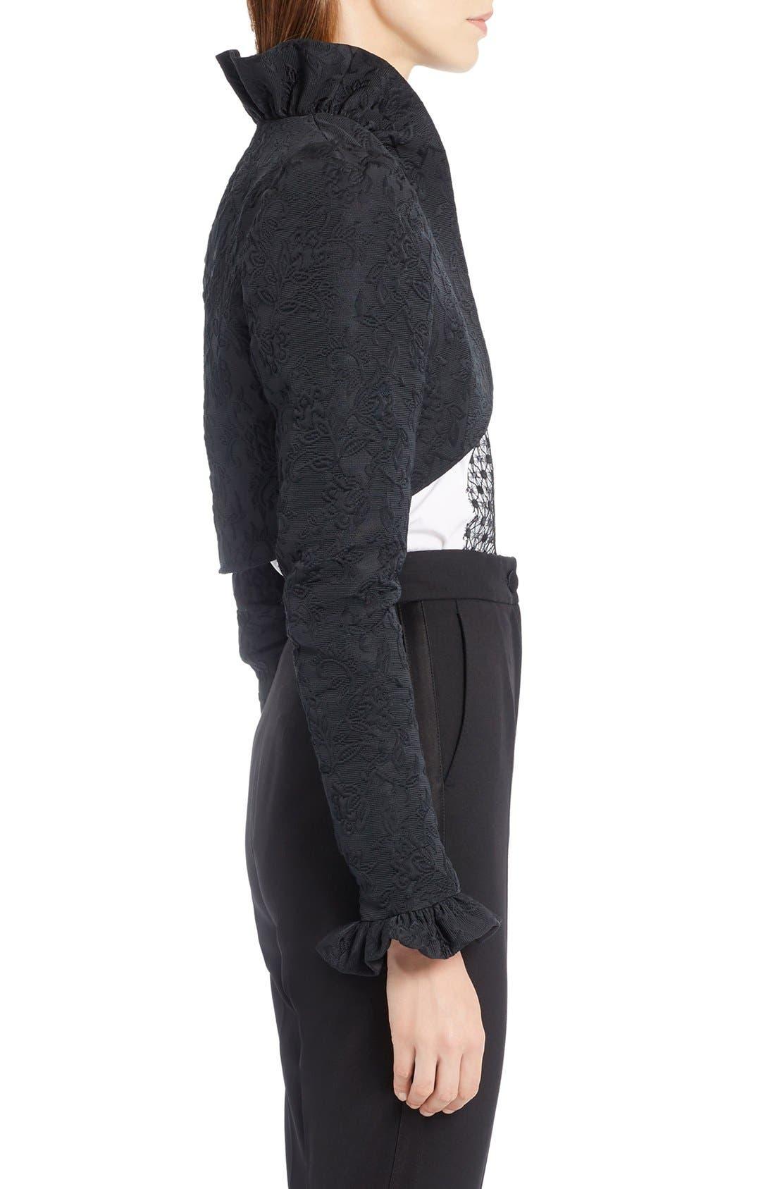 Alternate Image 4  - Dolce&Gabbana Ruffle Jacquard Bolero Jacket