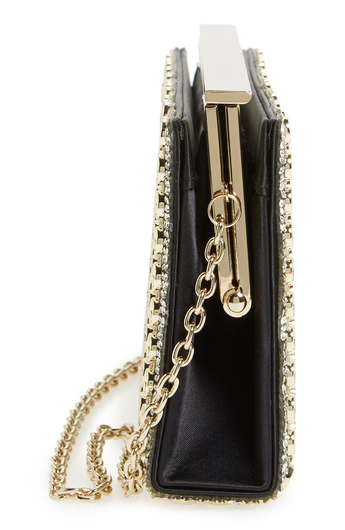 Alternate Image 3  - Sondra Roberts Crystal & Chain Clutch