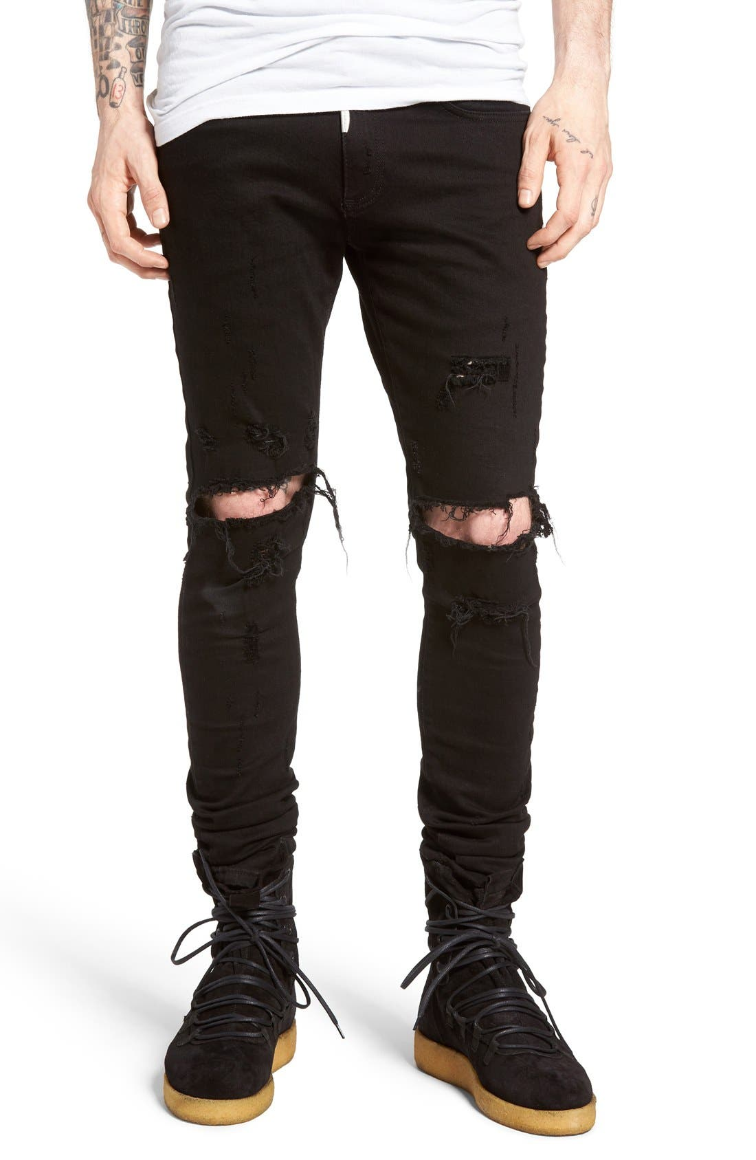 Alternate Image 1 Selected - Represent Destroyer Skinny Fit Jeans