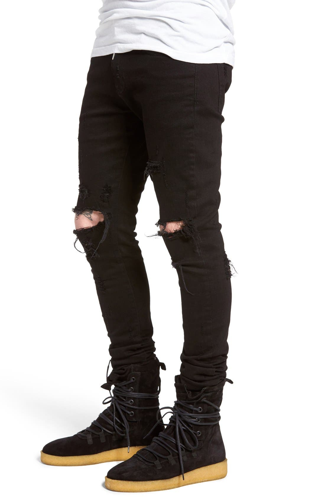 Alternate Image 2  - Represent Destroyer Skinny Fit Jeans