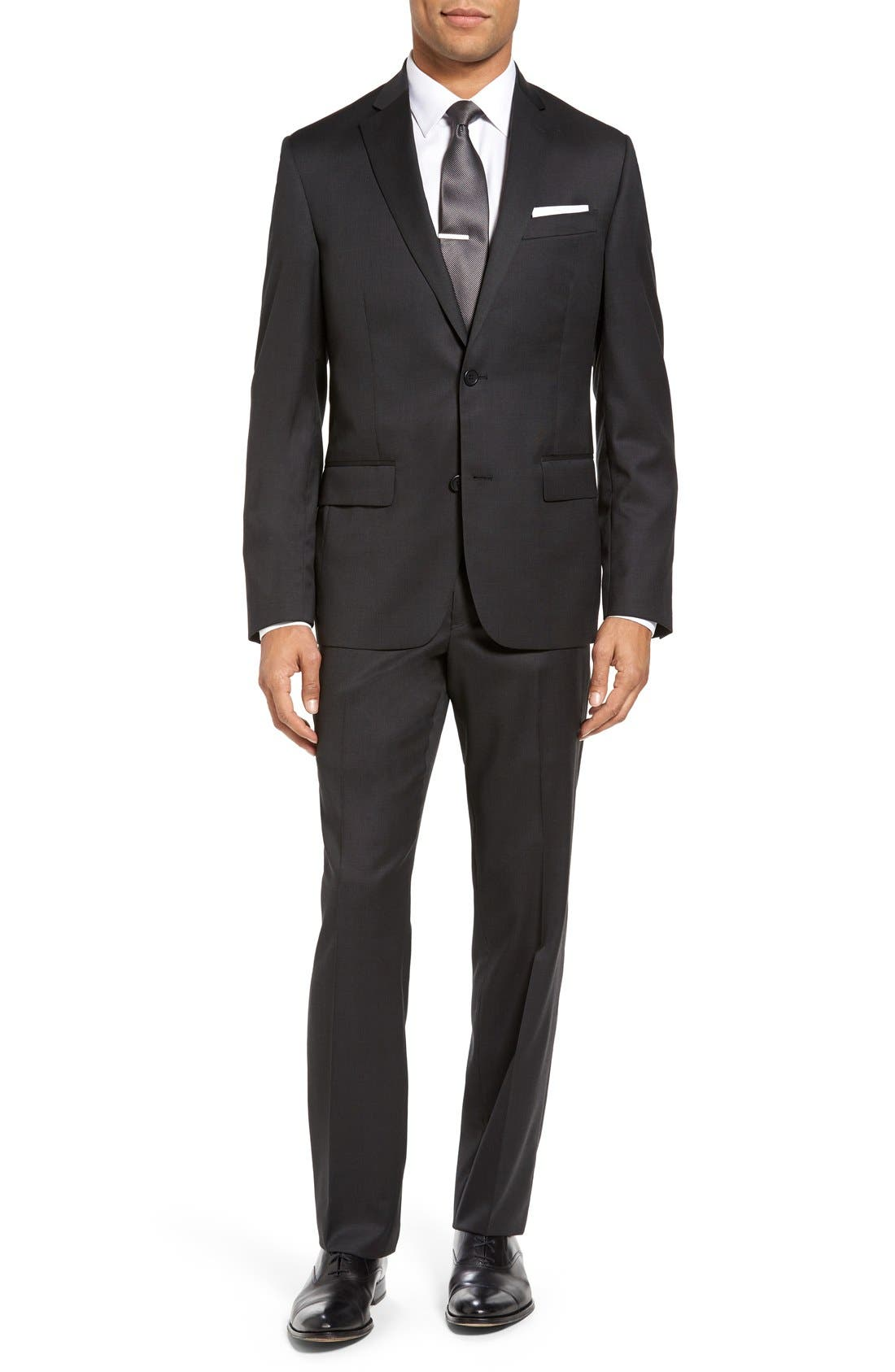 Alternate Image 1 Selected - Nordstrom Men's Shop Classic Fit Solid Wool Suit