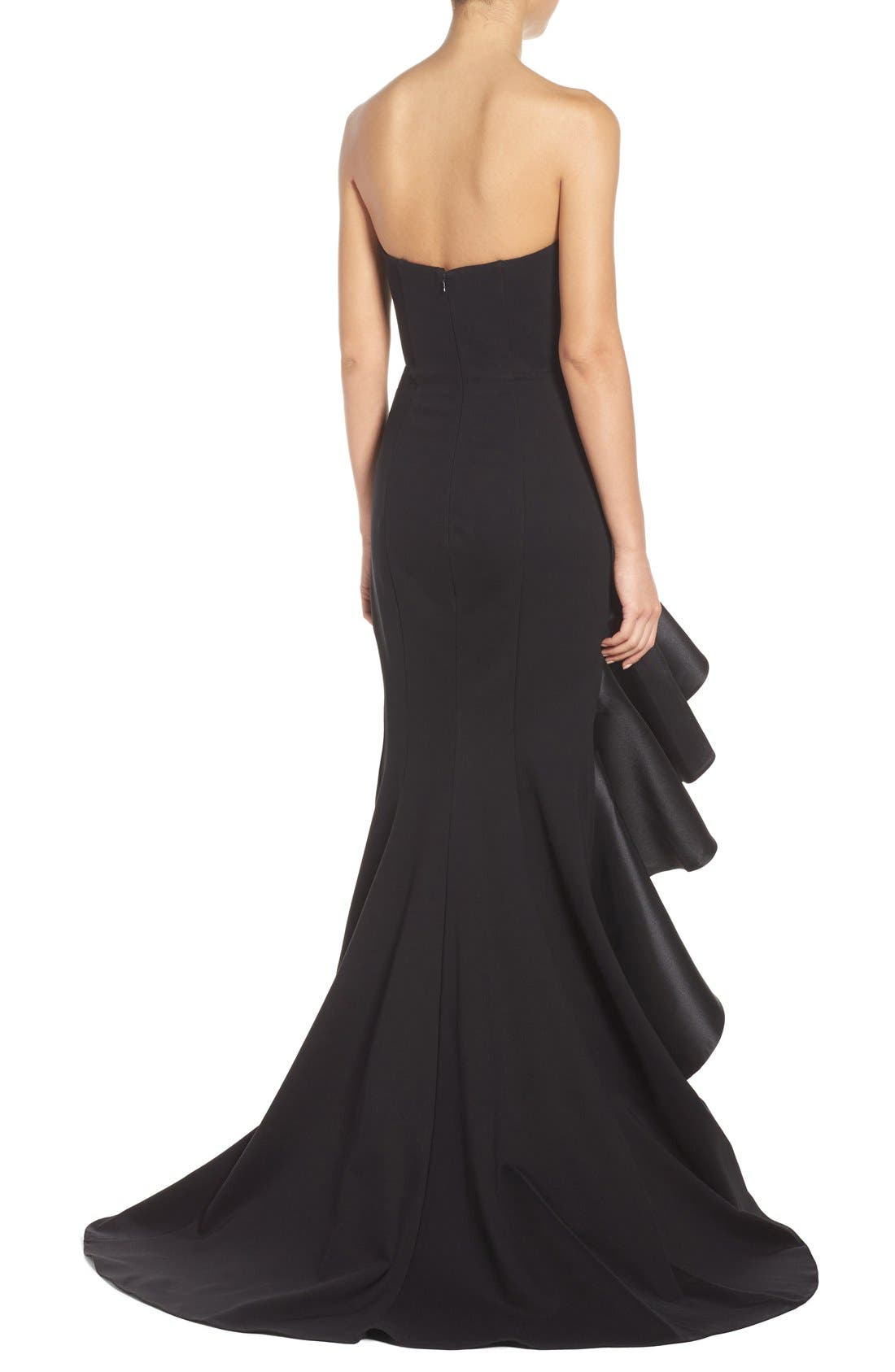 Alternate Image 2  - Jovani Asymmetrical Sweetheart Gown