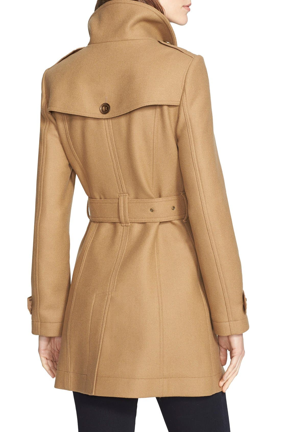 Alternate Image 2  - Burberry Daylesmoore Wool Blend Double Breasted Trench Coat