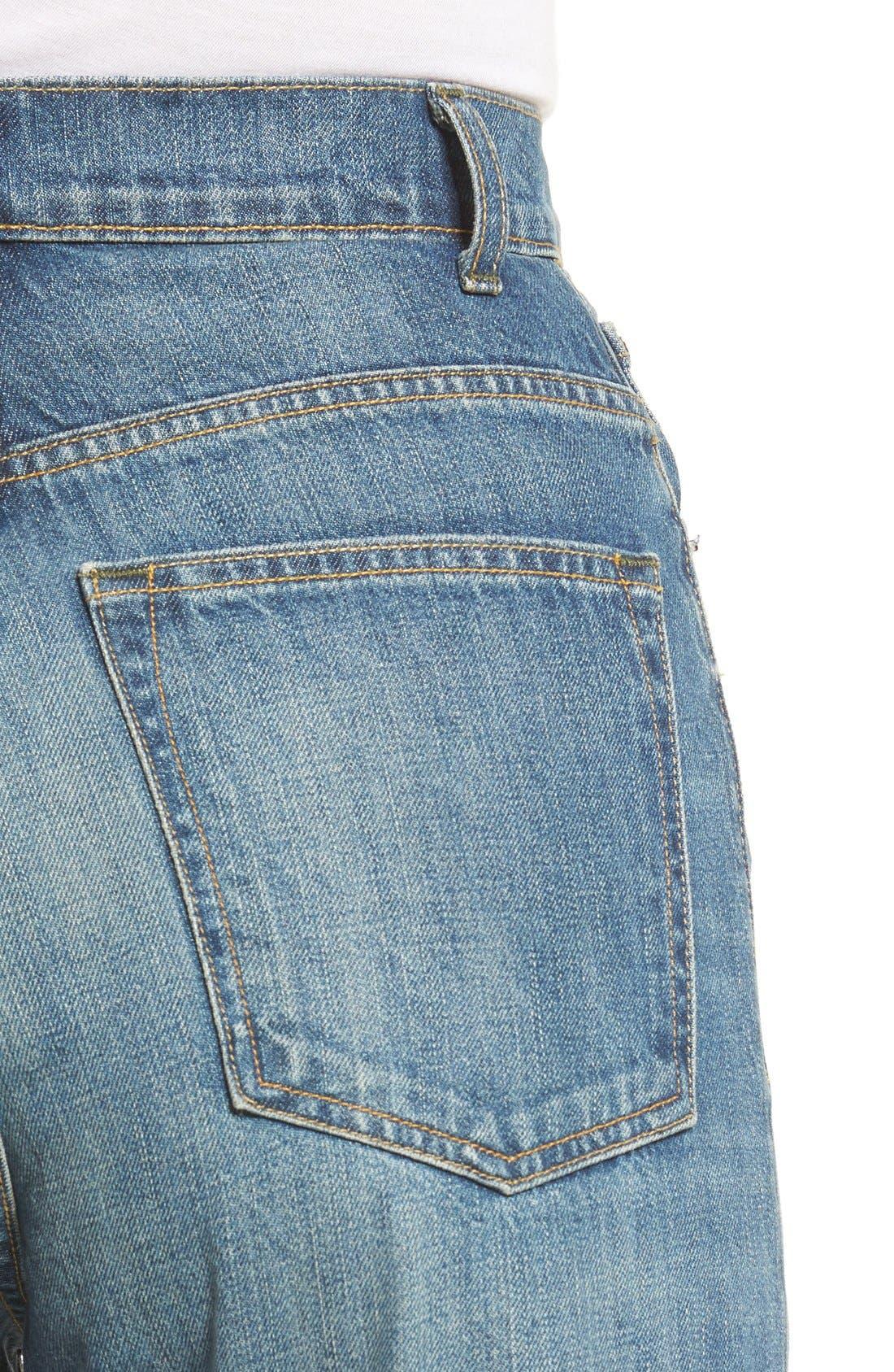 Alternate Image 4  - imogene + willie High Waist Wide Leg Jeans (Abilene)