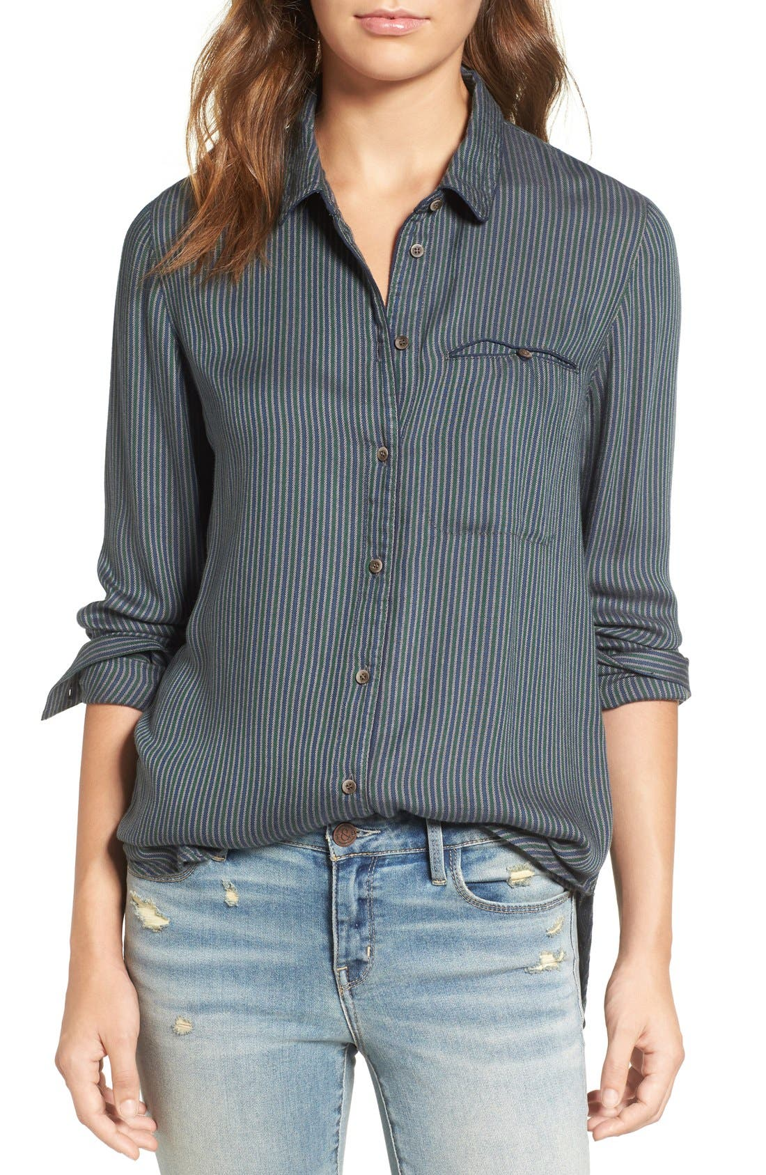 Alternate Image 1 Selected - Treasure & Bond Stripe Blouse