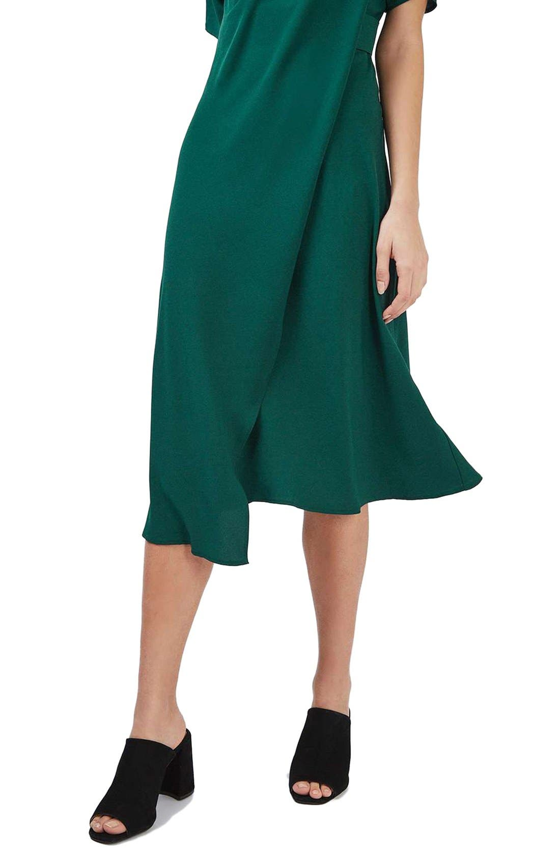 Alternate Image 6  - Topshop Origami Drape Neck Midi Dress
