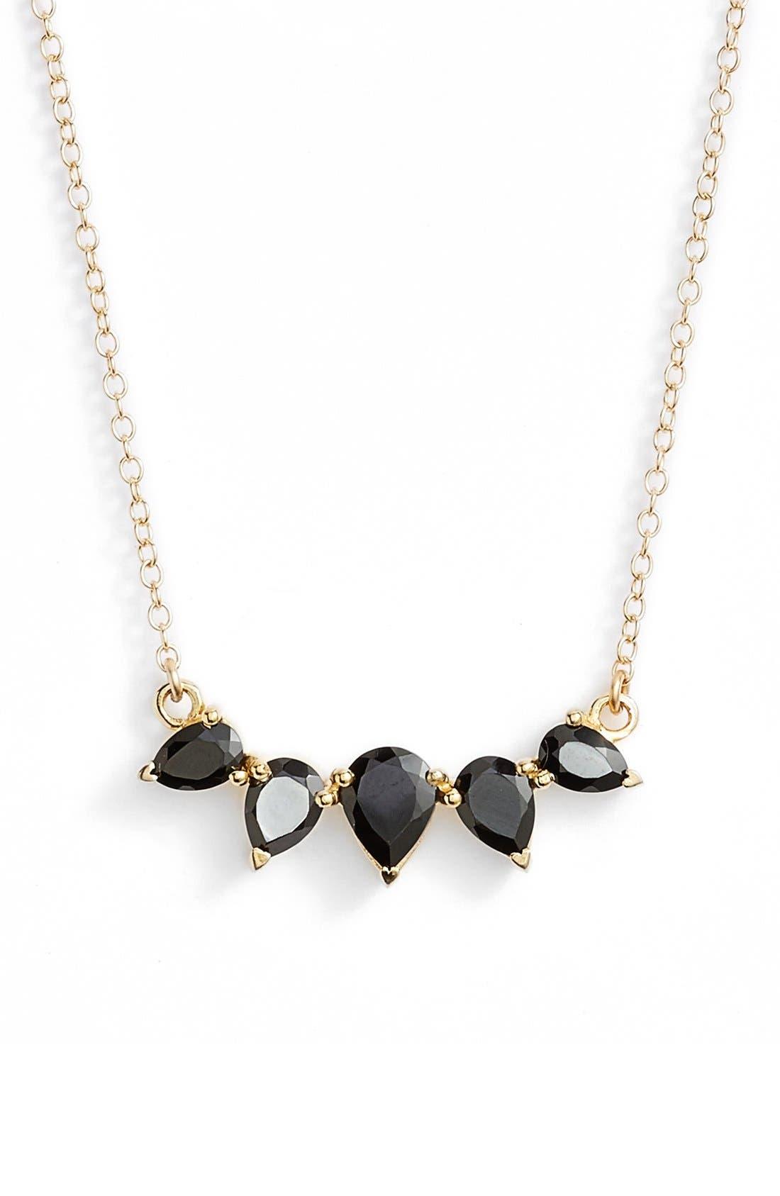Leah Alexandra Crescent Pendant Necklace