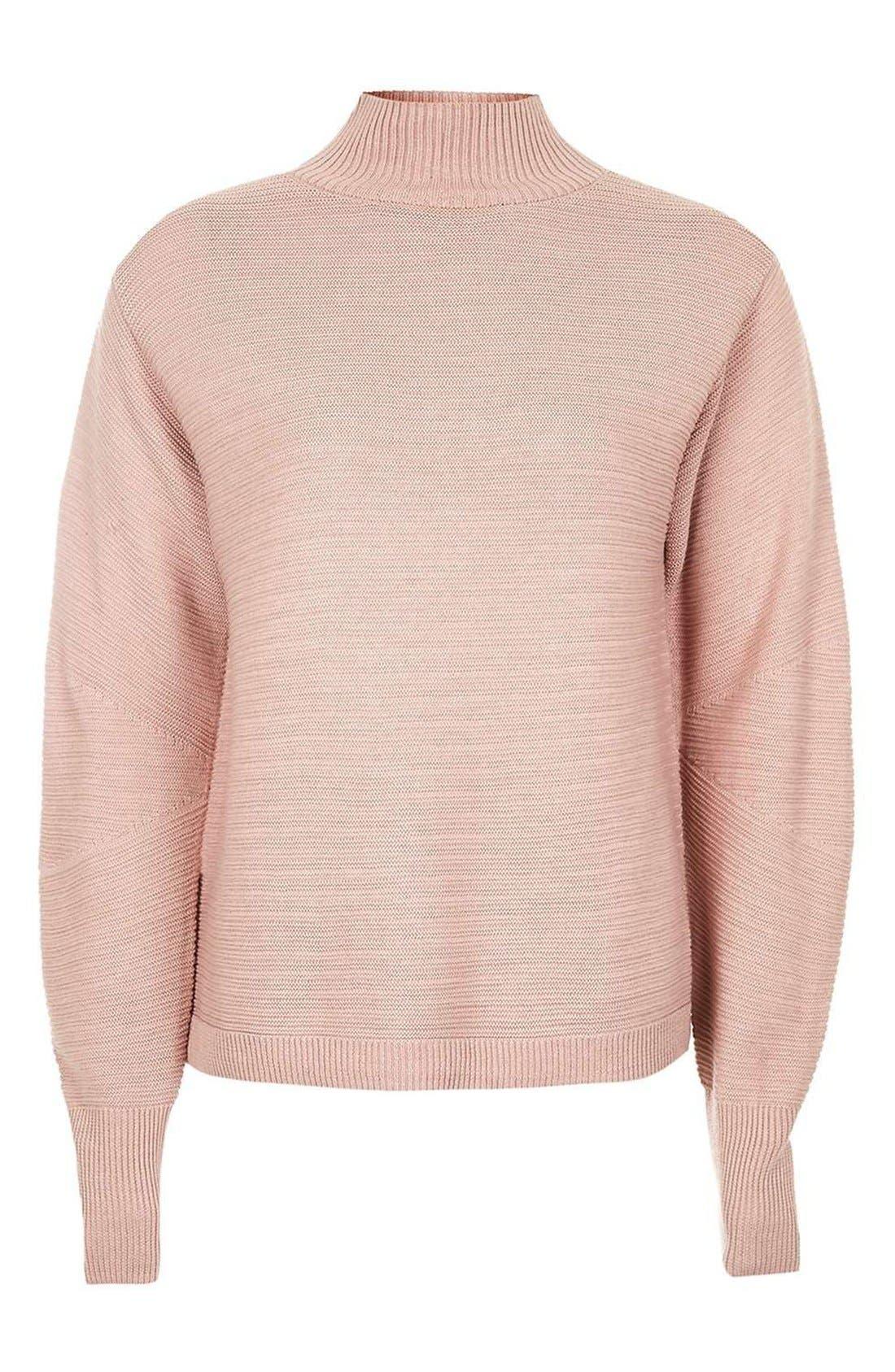 Alternate Image 4  - Topshop Mixed Stitch Sweater