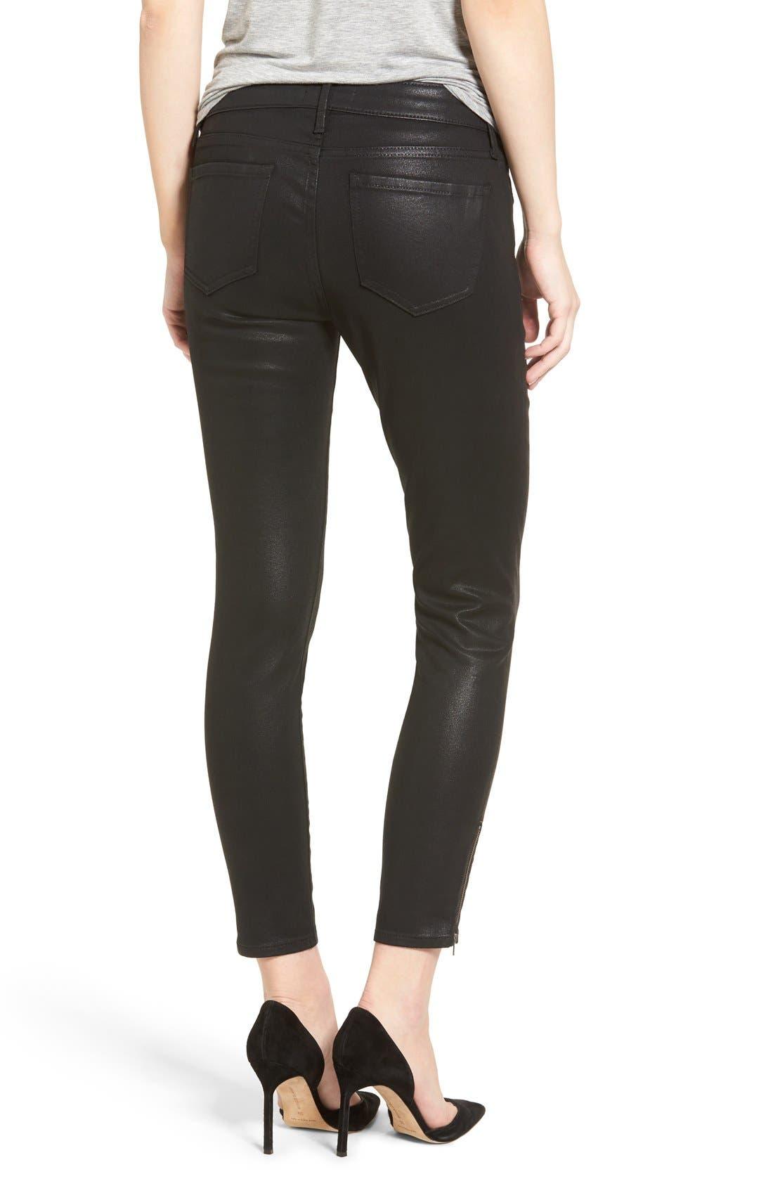 Alternate Image 2  - Trouvé Coated Skinny Jeans